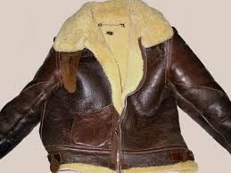 B-3 sheepskin leather flight jacket