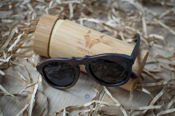 Brown bamboo sunglasses, wooden sunglasses, polarized sunglasses, wood eye wear, wooden eyewear, handcrafted, wood sunglasses, citywolf