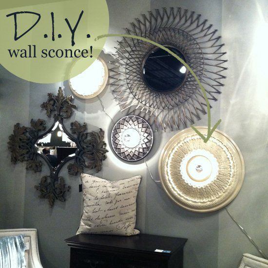 Learn how to make a DIY wall sconce!