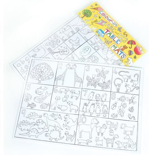 Looking for ways to keep your children at the table? Our Giant Colour-in Table Mats, featuring two fabulous and fun designs could be the answer... Available from www.joscards.co.uk