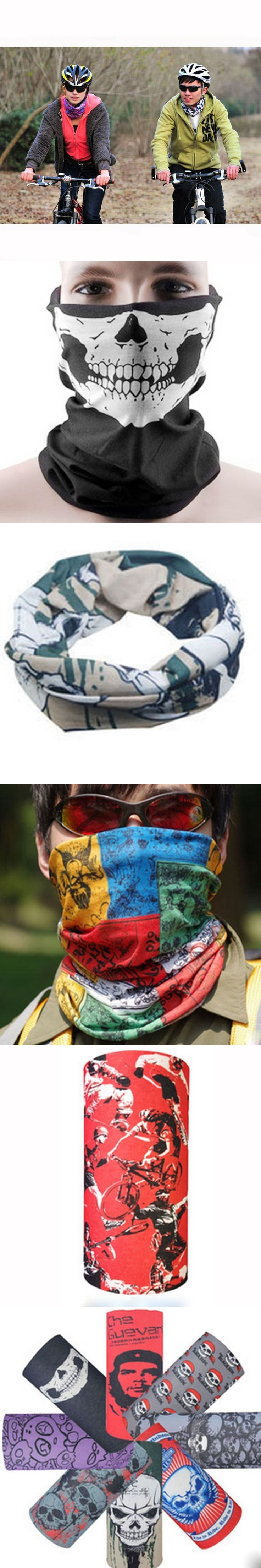 New Skull Bandana Bike Camouflage Tube Neck Face Mask Headscarf Sport Headband Pick Skull Print Bandanas