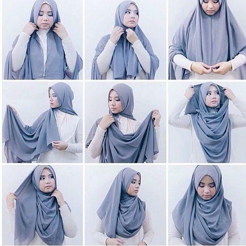 Tutorial Hijab Pashmina Simple Dan Syari Gaya Hijab Kasual Inspirasi Fashion Hijab Hijab Chic