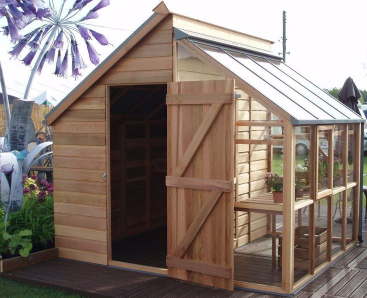 The Grow & Store -really like the idea of an 'all in one' goat barn, chicken coop and greenhouse. #greenhousediy