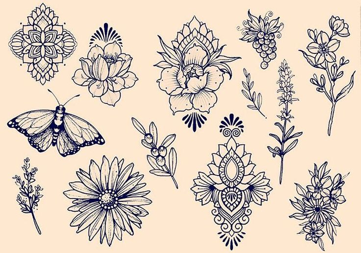 Flower mandala tattoo ideas