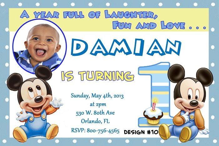 Mickey Mouse Baby Shower Invitations Beauty Photo Designs