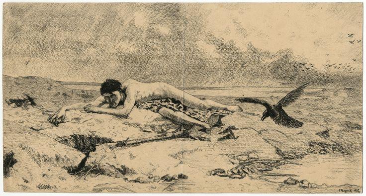 F. Pecánek (after Emanuel Krescenc Liška): Kain (Cain), 1912