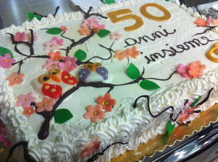 Torta 50 anni di matrimonio www.colazionedaguendalina.blogspot.it