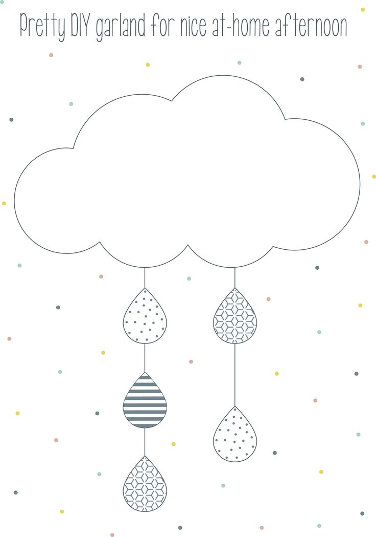 <p>Pretty DIY Cloud Garland for nice at home afternoon</p>