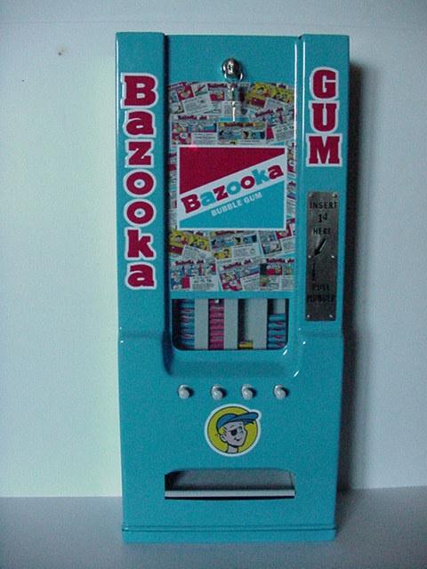 Bazooka Bubble Gum vending machine
