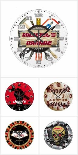 BestSelling Man Cave Clocks in Zazzle. I found these amazing clocks for the men garage on Zazzle and they are customizable!  They are an original gift idea for men. You can see all the others on: http://www.zazzle.com/collections/bestselling_man_cave_clocks_in_zazzle-119688143161013339
