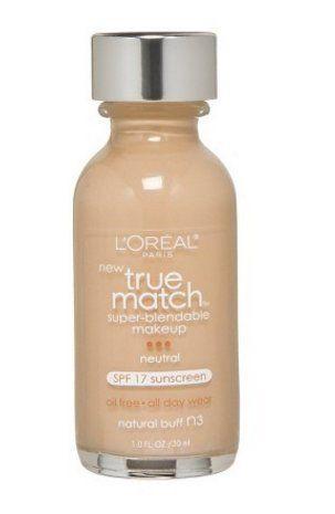 L'Oréal® Paris True Match Super-Blendable Liquid Makeup (natural buff n3) - http://buyonlinemakeup.com/illuminations/natural-buff-n3-loreal-paris-true-match-super-sand