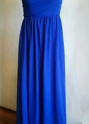 Nádherné nové luxusní romantické modré společenské šaty pro vyšší ženu/nebo hodně vysoké podpatky
