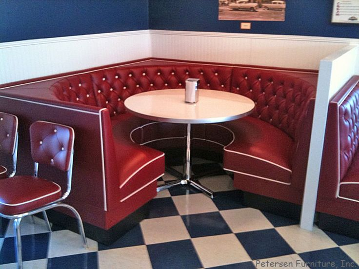 Diner Restaurant Booth 3 4 Circle Home Sweet Future Home