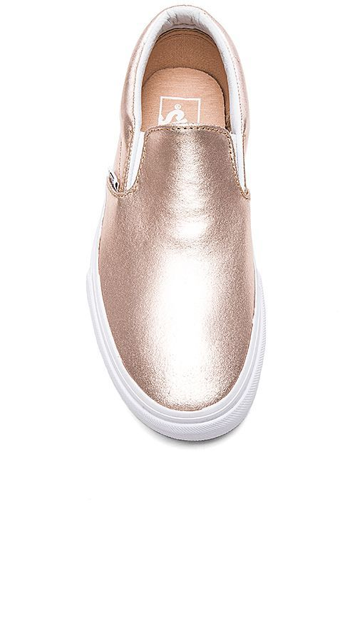 a10e5a4c83f Vans Classic Slip-On in Rose Gold