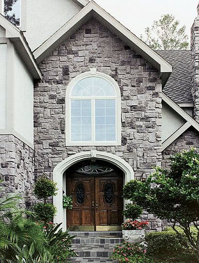 I love the stone and the double doors