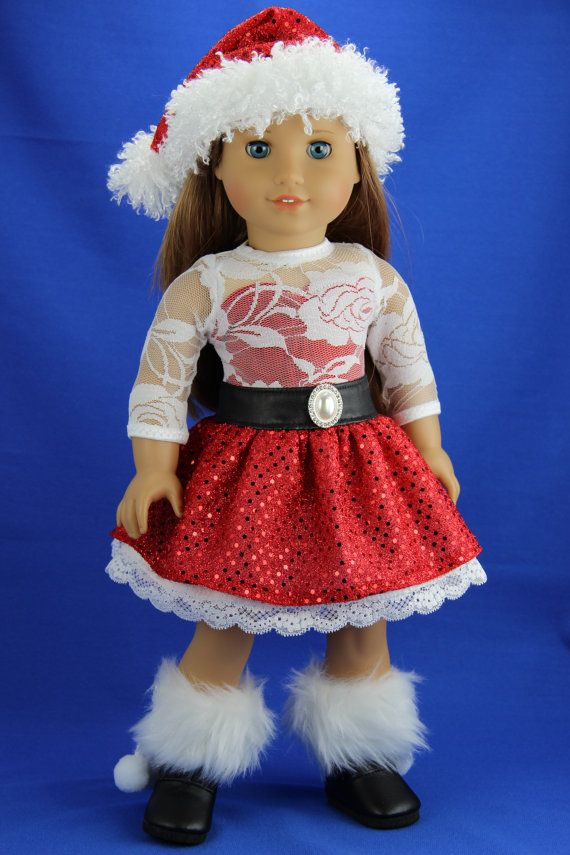 Handmade 18 inch doll clothes Red 2 piece by DolliciousClothes