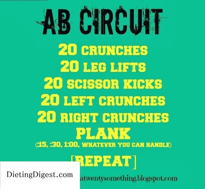 Musings of a Twenty Something: Week in Workouts: Volume 1 abs abs abs abs Check out Dieting Digest