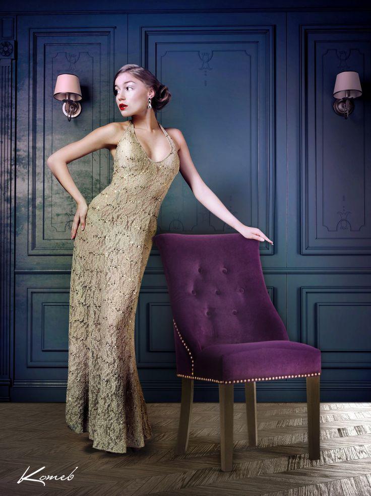 Fotel Alan Luksusowe i zmysłowe aranżacje wnętrz. Glamour to styl łączący ze sobą elementy na pozór do siebie niepasujące, które jednak w końcowym efekcie tworzą oszałamiające wnętrze. Współczesny design inspirowany barokiem, błyszczące tkaniny i niebanalne dodatki.