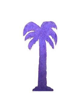 glitter palm tree cut out looks great in a miami theme event