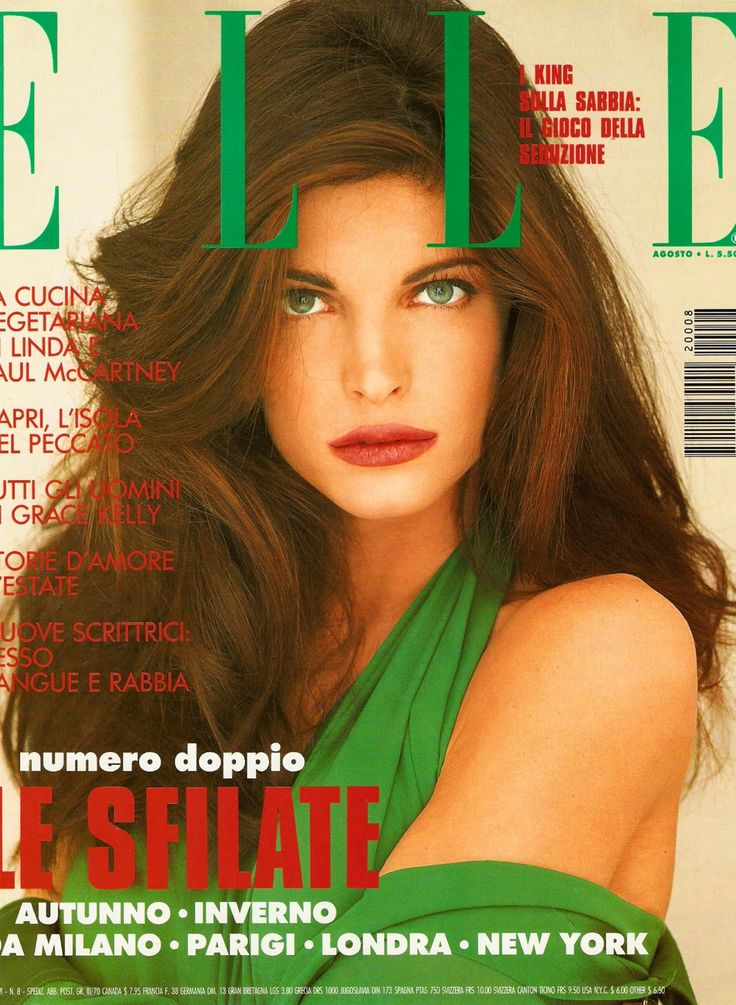 STEPHANIE SEYMOUR ITALIAN ELLE COVER AUGUST, 1992