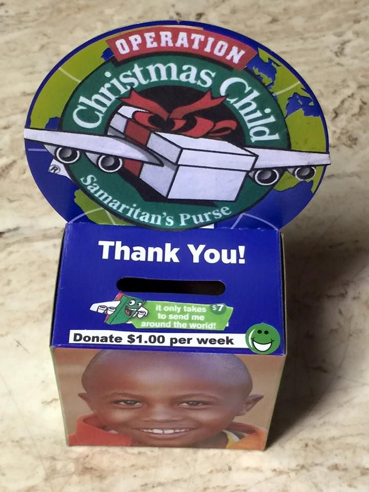 "Here's a great fundraising idea for Operation Christmas Child shipping fees for your shoeboxes this year!  Judy made up these great boxes.   She found and repurposed another ""aid"" box and made up the logo for Operation Christmas Child.   This might be something to make to have your church or community [...]"