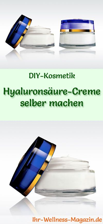 DIY-Geschenk: Hyaluronsäure-Creme selber machen  #diy #selbermachen #gesichtspflege