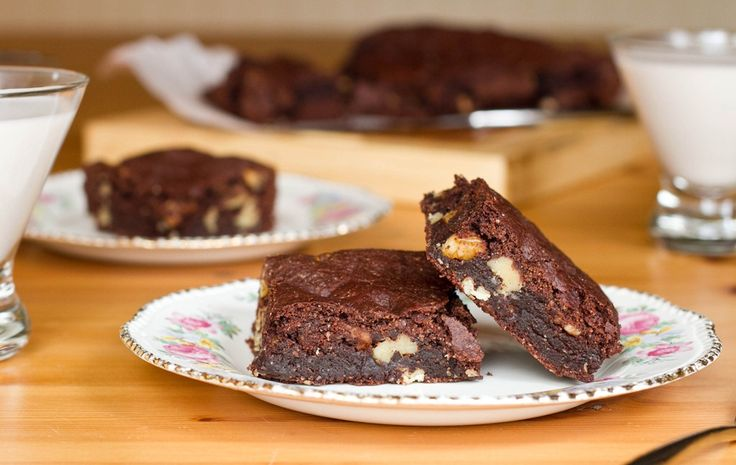 These were our favorite brownies even before finding out about my celiacs.  I sub out half the oil with 1/4c of banana and reduce the sugar.  The banana also makes them hold together much better. We leave out the nuts since my husband doesn't like nuts in his brownies.  They are so increidbly good.