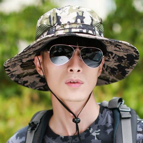 Stylish camouflage bucket hat UV package sun hats for men