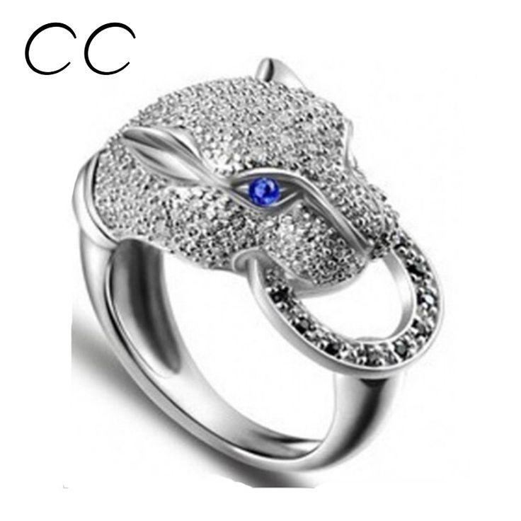 Caliente populares anillos del partido punky de la joyería animal de la manera del leopardo para las mujeres niñas accesorios anel bijoux regalos perfectos CC045