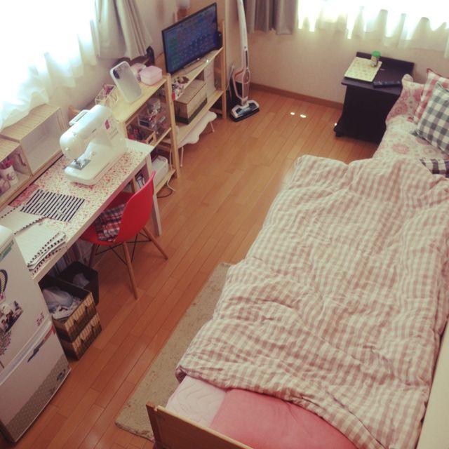 nana97さんの、模様替え,賃貸,一人暮らし,1K,Overview,のお部屋写真
