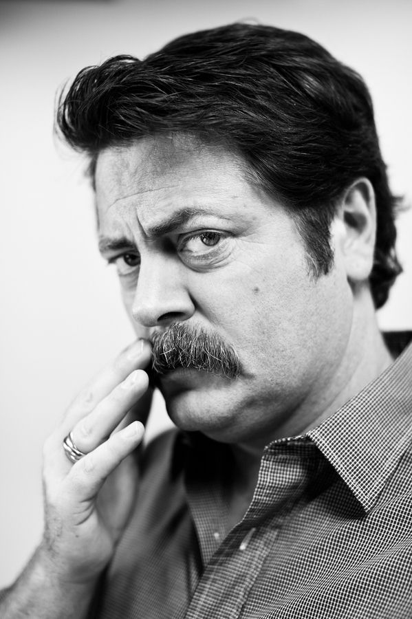offerman guys Some actors were born to play certain roles, but nick offerman wasn't just born to play ron swanson, he is ron swanson.