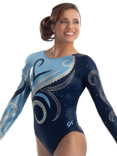 Swirl Rush Competition Leotard from GK Elite Note: Here's another one I would pick!
