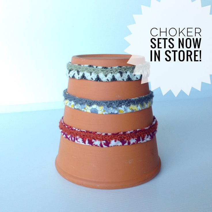 Get all three of our Fabric Chokers with Crochet Detail in one pack for a discount price!