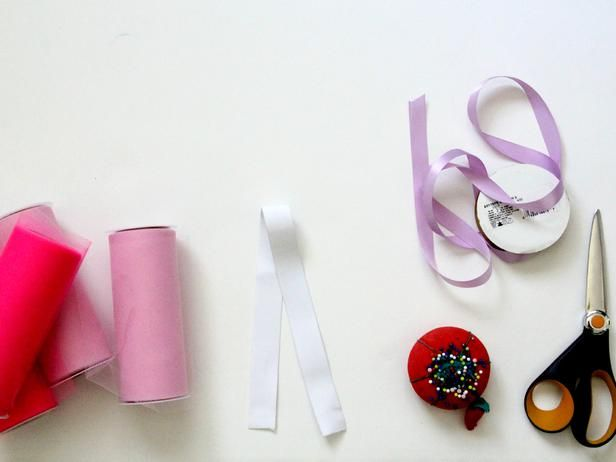 """Tools and Materials To make a classic tutu, you will need: 3 to 8 rolls of 6""""-wide tulle (3 to 4 rolls will yield a short tutu while 7 to 8 rolls will yield an ankle-length tutu); 1/2""""-wide elastic (length will depend on size; get sizing info on the next slide); basic sewing essentials including scissors, thread, needl"""