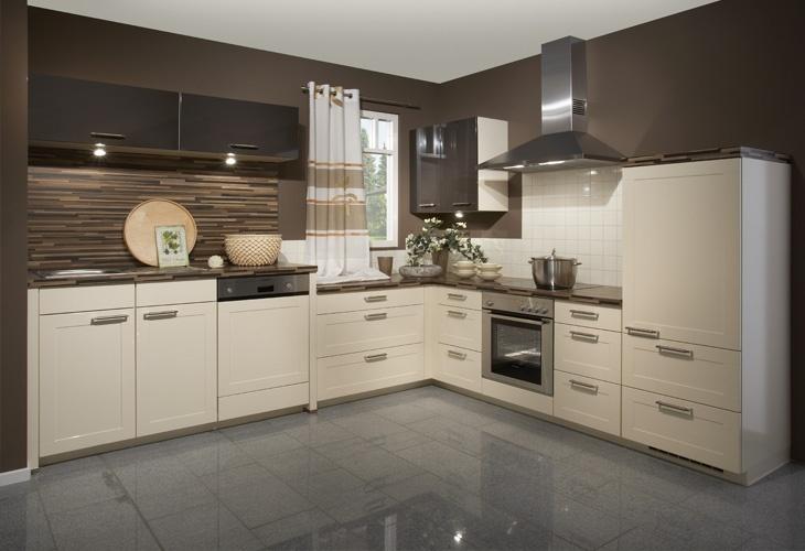 Küche in Creme #Eckküche wwwdyk360-kuechende Wohnung - nobilia küchenfronten farben