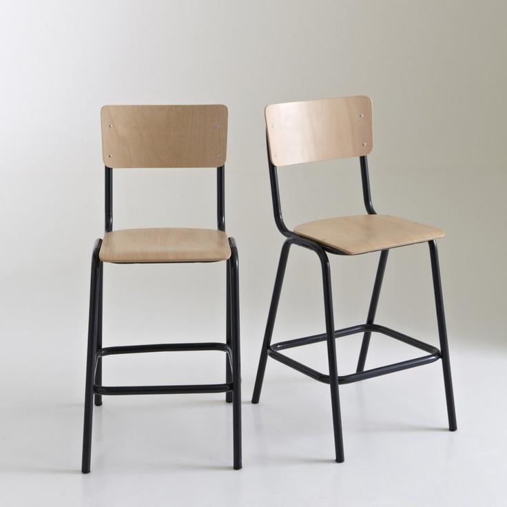 Les 32 meilleures images propos de mobilier sur pinterest fauteuils orla - Chaise style ecolier ...