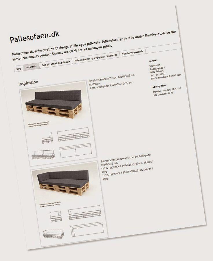 Skumhuset - Vi skærer skumgummi på mål til hurtig levering. Søger du madrasser, hynder og møbelstof.: Find inspiration på Pallesofaen.dk