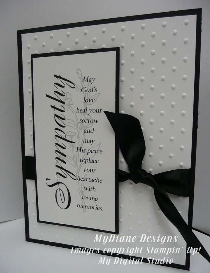 MyDiane Designs, Stampin' Up! My Digital Studio, Friends 24-7, God's Blessing, Sympathy, handmade cards