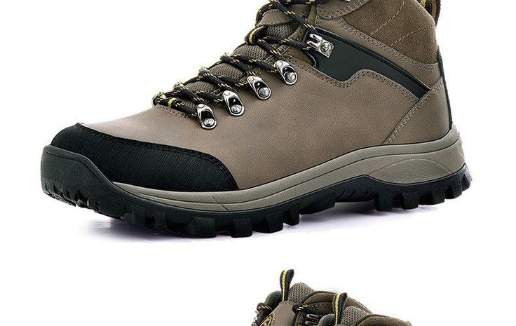 RAX Men Waterproof Hiking Boots Genuine Leather Hiking Shoes Men Lightweight Climbing Boots Breathable Mountaineering Shoes Men