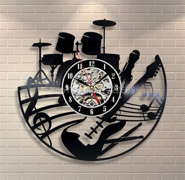 3D Wall Clock Love Vinyl Record Creative Hanging Clock Car Wall Clock Home Decor, Free Shipping
