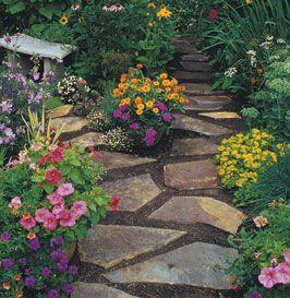 Garden Stone Path.