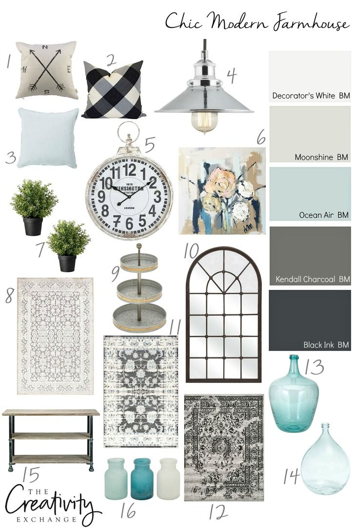 Adding a chic twist to modern farmhouse with paint colors and accessories. http://www.thecreativityexchange.com/2016/10/moody-monday-layering-shades-celadon.html?utm_source=feedblitz&utm_medium=FeedBlitzRss&utm_campaign=thecreativityexchange