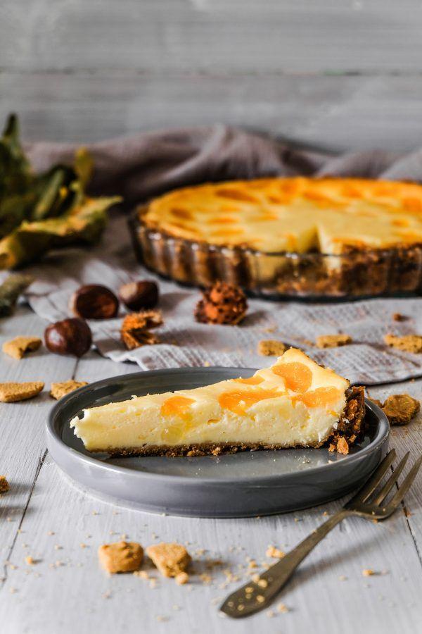 Spekulatius Käsekuchen Tarte mit Mandarinen | Torte ...