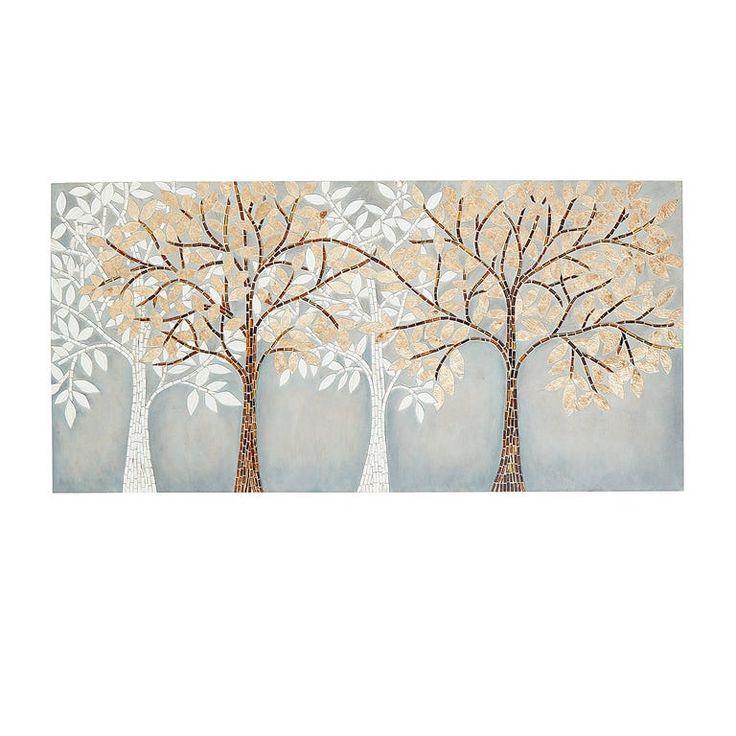 Tree scene capiz mosaic wall panel mosaic wall wall