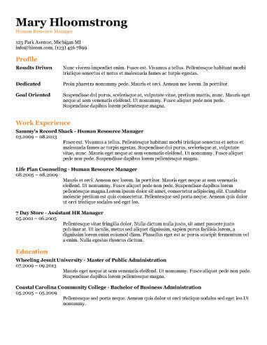 - Combination Resume by Hloom.com