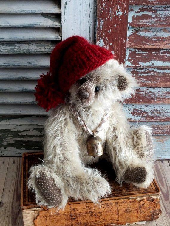 Collectible Teddy Bear Handmade Artist Bear by AVintageObsession,: