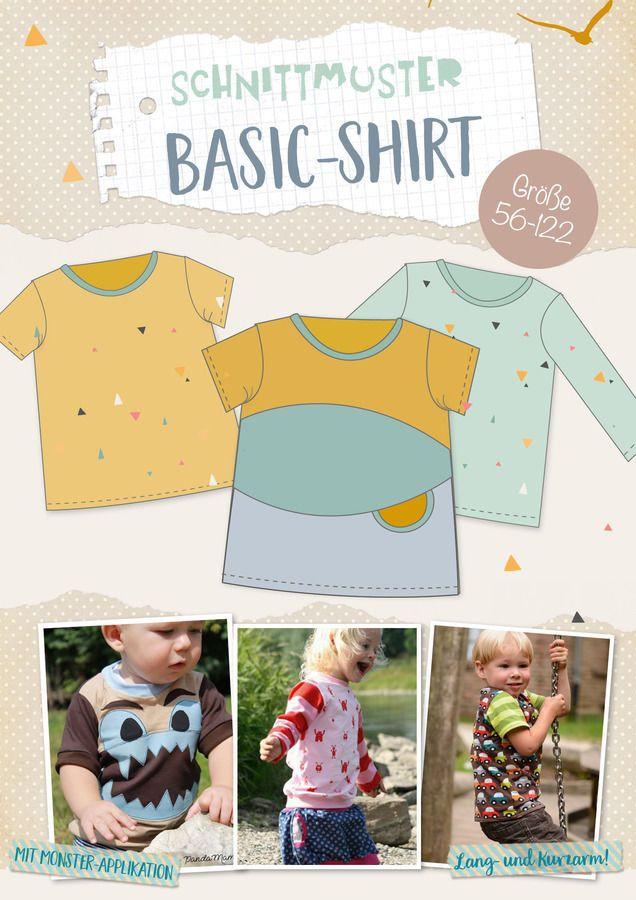 Lybstes. Basic-Shirt E-BOOK | Gr. 56-122 Schnittmuster - Nähanleitungen bei Makerist