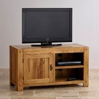 Quercus Rustic Solid Oak TV Cabinet