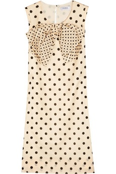 "Sonia by Sonia Rykiel ""Polka dot cotton and silk-blend dress"""