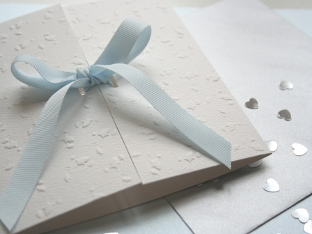Simple Blue Wedding Invitation Wallpaper
